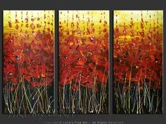 Buy from artist direct: original canvas painting by Lena Karpinsky - Red Fields of Southeast.