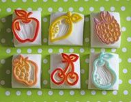 Fruity rubber stamps