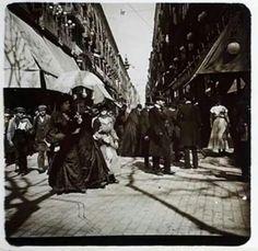 Vista del c/Ferran el divendres Sant de 1904. Foto Miguel Pons Bernareggi.