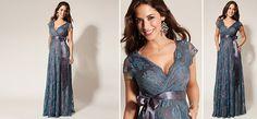 Eden Kleid lang blau aus der Kategorie Festliche Umstandsmode von Mamarella - Details