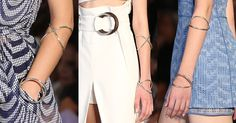 Marcas da SPFW mostram seus acessórios para o Verão 2016 - Moda - UOL Mulher 16.abr.2015 - As argolas estiveram presentes em toda coleção Verão 2016 de Giuliana Romano, ora parte de amarrações e cintos, ora como pulseiras minimalistas de prata