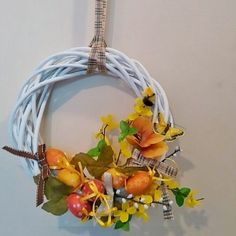 #wreath #handmade #DIY #spring #decorations #design #interior #outdoor #Easter #wianek #wiosna #dekoracje #recznierobione
