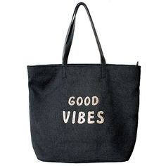 Venus Good Vibes Beach Tote ($29) ❤ liked on Polyvore featuring bags, handbags, tote bags, purses, pocket purse, zipper handbag, purse tote, zip tote and hand bags