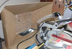 Making a Port for Better Dust Collection for the Sliding Compound Mitre Saw