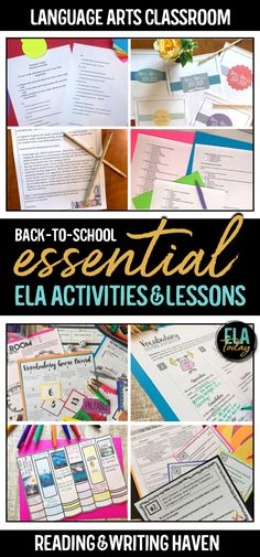 12 essential activities and lesson plans to use with middle and high school ELA classes Writing Lessons, Teaching Writing, Teaching Resources, Teaching Themes, Teaching Grammar, Grammar Lessons, Teaching Methods, Middle School Writing, Middle School English
