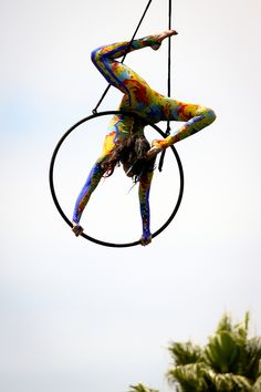 aerial hoop + an awesome outfit!