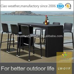 6 Person Outdoor High Top Bar Tables And Chairs Photo Detailed About