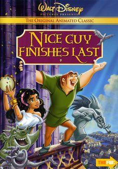 Carteles brutalmente honesto de la obra clásica de Disney Películas de animación - GeekTyrant El Jorobado de NotreDamm