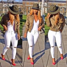 Minus the red shoes. Replace them with nude pumps