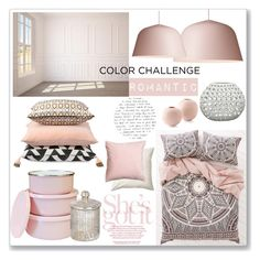"""Romantic Pastel Decor"" by mmmartha ❤ liked on Polyvore featuring interior, interiors, interior design, home, home decor, interior decorating, Reston Lloyd, Magical Thinking, H&M and bedroom"
