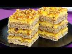 O astfel de prăjitură nu guști în fiecare zi! Prăjitură divină cu nuci caramelizate! | SavurosTV - YouTube Romanian Desserts, Romanian Food, Food Cakes, Just Cakes, Other Recipes, Macarons, Baked Goods, Banana Bread, Cake Recipes