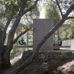 Tea Houses  by Swatt   Miers  Architects Swatt   Miers have suspended three glass pavilions over the edge of a valley in northern California. Located in the grounds of the client's home, the three Tea Houses were designed to provide quiet, contemplative spaces that are free from the distractions of television, internet, telephone and even music.