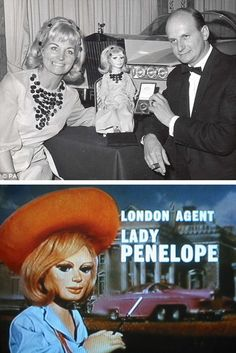 The Real Lady Penelope. Gerry Anderson, creator of Thunderbirds ITV), his ex-wife Sylvia, and Lady Penelope, for whom Sylvia was the inspiration. Joe 90, Thunderbirds Are Go, Crazy Ex Girlfriends, Cult, Tv Land, Kids Tv, Vintage Tv, Ex Wives, Classic Tv