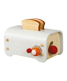 Wooden Toaster by Toy Kitchen Collection: I love these fun kitchen accessories. My toddler is obsessed with the toaster!