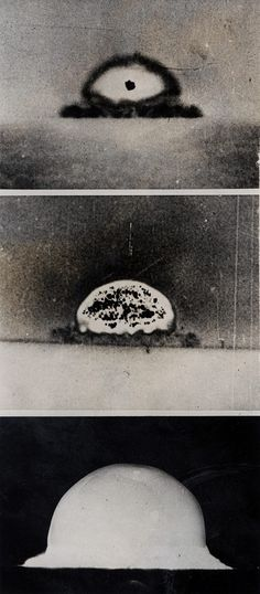 Series of Photos of First Atomic Bomb Explosion