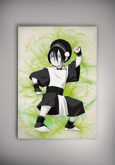 Avatar: The Last Airbender  Anime Manga Watercolor Print Poster Aang Katara Zuko Toph Korra