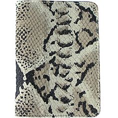 pb travel Luxury Python Embossed Leather Passport Cover - Charcoal Grey - via eBags.com!