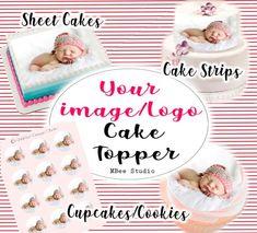 24//30//Personnalisé-Masha and The Bear Cupcake Toppers-Papier de Riz Anniversaire