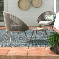 Joss & Main   Style is what you make it. Make it yours. 3 Piece Bistro Set, 3 Piece Dining Set, Windsor Dining Chairs, Dining Table Chairs, Outdoor Sofa Sets, Outdoor Furniture, Cushions For Sale, High Back Chairs, Soft Seating