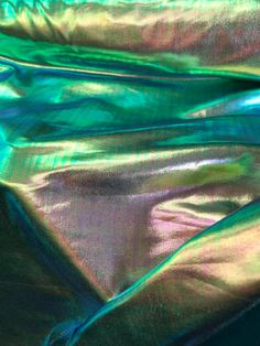 NEW Iridescent Foil on Spandex Fabric sold by yard Shinny