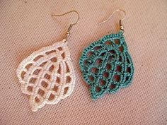 THIS IS A DIGITAL DOWNLOADABLE FILE (PDF PATTERN TUTORIAL) - NOT A PRODUCT.  -------------------------------------------------------------------------------------------------------------------------    This listing is for one of the crochet earrings patterns designed by me. A great accessory, feminine, so elegant,.... Its written in American terms. I took photos step by step. Easy following.. Enjoy!    Supplies:  Cotton lace thread  Round nose plier  Ear wires (2pcs.)  Thread needle  Hook…