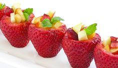 adorable fruit salad idea - even just to do a dozen to accent a fruit station