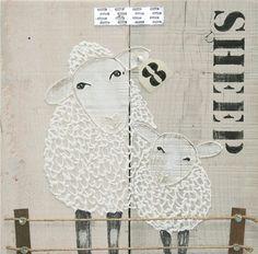 Vrolijk maar toch met een rustige uitstraling. Prachtig in de babykamer! Ook verkrijgbaar met andere dieren. Baa Baa Black Sheep, Country Paintings, Kidsroom, Acrylic Art, String Art, Painting On Wood, Crafts To Make, Art For Kids, Kids Rugs