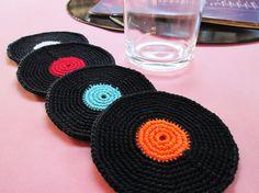 #coaster #portacopos #retro #70s #crochet #crochê #lp