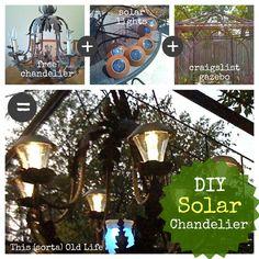 This (sorta) Old Life DIY solar chandelier