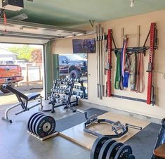 PRx Performance – Lift Big in Small Spaces (as seen on Shark Tank!) – Home gym – garage Home Gym Basement, Home Gym Garage, Diy Home Gym, Home Gym Decor, Gym Room At Home, Workout Room Home, Best Home Gym, Basement Man Caves, Basement Workout Room