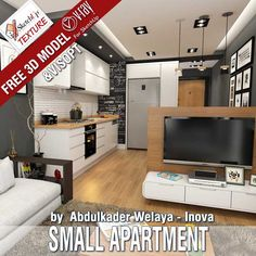 Latest FREE #sketchUP 3D model loaded by ABDULKADER WELAYA - INOVA with  #vray Visopt, vray proxy carpet, vray IES light DOWNLOAD LINK https://www.sketchuptextureclub.com/3d-models/loft-apartments/small-apartment-89