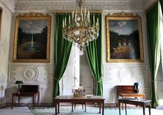 Room in the Grand Trianon, Versailles. Posted in 2010 by Kyle Knight. French Curtains, Silk Curtains, Green Curtains, Rustic Curtains, Curtains Living, White Curtains, Patterned Curtains, Short Curtains, Double Curtains