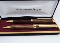 I am extending my range to include in handmade mechanical pencils and these pen & pencil sets. The pencil has a twist mechanism to extend and retract the 0.7mm lead. #handmade #crafts #gifts #giftidea #fathersday #pens #woodturning #penturning #unique #dowoodworking #Whitlockwoodendesigns #woodpen #woodenpens by whitlockwoodendesigns