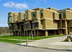 Orange County Government Center in Goshen in New York. Designed by Paul Rudolph in 1963, built in 1967.
