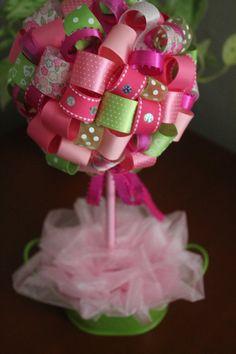 Topiary Party topiary Ribbon topiary Birthday by JoSeasonsCrafts
