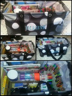 Using the Large Utility Tote to organize all your art supplies! www.mythirtyone.com/lindsayrose