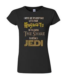 Hogwarts Harry Potter Star Wars Jedi Inspired Funny Slogan Ladies Fit T-Shirt Buzz Shirts http://smile.amazon.com/dp/B00URKNA00/ref=cm_sw_r_pi_dp_-bPrvb153382H
