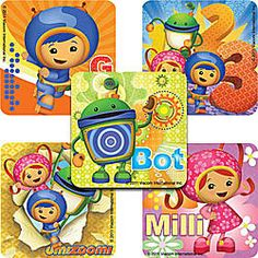 "Are you having an Umizoomi party or do you have a DIY project? Each pack contains 75 stickers. Measures 2.5"" each. There are 5 different scenes. These are great to decorate treat bags, decorate tablew"