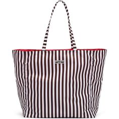Henri Bendel Reversible Packable Tote ($48) ❤ liked on Polyvore featuring bags, handbags, tote bags, very berry, lightweight handbags totes, light weight tote bag, lightweight tote bag, lightweight tote and nylon tote bags