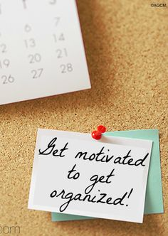 Get motivated to get organizing - Ask Anna