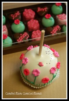Spring Caramel Apple and Cake Truffles  Facebook/Confection Concoctions