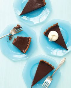 Chocolate Tart with Chocolate Chip Cookie Crust Recipe