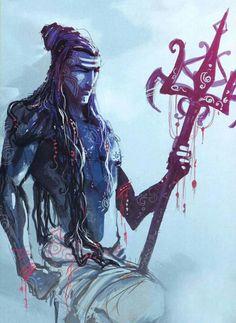 shiva with trishul Shiva Art, Shiva Shakti, Hindu Art, Yoga Studio Design, Hindus, Yoga Inspiration, Wicca, Chakra, Trishul