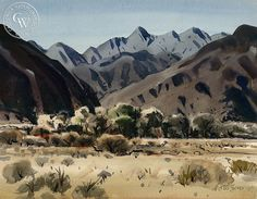 Milford Zornes - El Cajon Pass, 1957 - California art - fine art print for sale, giclee watercolor print - Californiawatercolor.com
