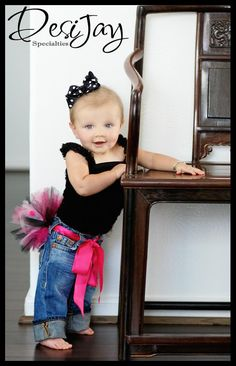 Blue Jean Tutu belt-  Dress Up Any Pair of Blue Jeans - Convert Annalena's tutu from last year