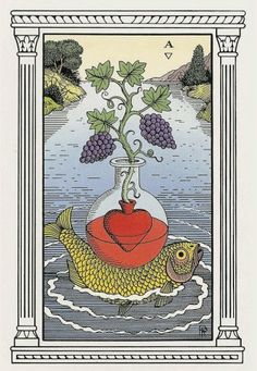 Ace of Cups, Alchemical Tarot, Robert Place *