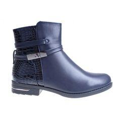 ghete-dama-bleumarin-cu-model-croco-sandra Biker, Boots, Casual, Model, Fashion, Crotch Boots, Moda, Fashion Styles