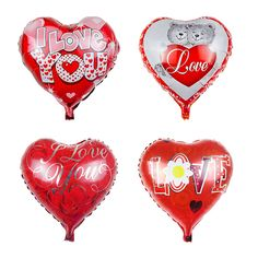 1PC 18inch LOVE balloon Mothers day heart shape Mama Aluminum foil balloons Mother festival Wedding baby party decoration globos #Affiliate