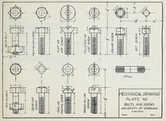 """Very industrial - this would look great printed out as a huge blueprint. Draftsmen and women were given these exercises to help them draw accurate diagrams. From the public domain book, """"Mechanical Drawing Copy Plates."""" Download in epub, kindle or pdf format here: https://archive.org/stream/mechanicaldrawin00rasm"""