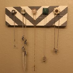 Chevron necklace hanger